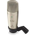 Behringer C1U Studio Condenser USB Microphone with Audacity Software
