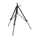 Manfrotto 117B Geared Video Tripod Black w/ Rubber Feet & Retractable Metal Spikes