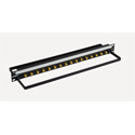 Bittree BH-B116A1B12 12GHz 4K/8K Single-Link BNC Coaxial Bulkhead Patch Panel with Designation Strip - 1x16 1RU