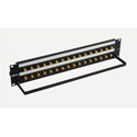 Bittree BH-B216A2B12 12GHz 4K/8K Single-Link BNC Coaxial Bulkhead Patch Panel with Designation Strip - 2x16 2RU