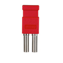 Bittree LP7502 Looping Plug (Standard Size WECO Video) Red