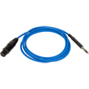 Bittree LPCXF3606-110 Female XLR to 1/4 Inch (Long Frame) 110 Ohm Audio Adaptor Cable - Blue - 36 Inches