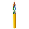 Belden 1592A DataTwist CAT-5e Patch U/UTP CM Unreel Box Cable - Yellow - 1000 Feet