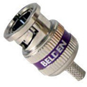 Belden 1855ABHD3 3-Piece Crimp BNC Connector for 1855A/RG59/Purple Band