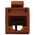 Belden RVAMJKUGY-B24 REVConnect 10GX UTP Modular Jack - Brown - 24 Pack