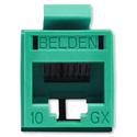 Belden RVAMJKUGN-B24 REVConnect 10GX UTP Modular Jack - Green - 24 Pack
