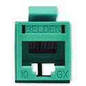Belden RVAMJKUTN-S1 REVConnect 10GX Category 6A Connectors - Green