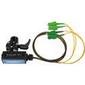 Camplex BLACKJACK-OP12 opticalCON QUAD APC  to Four (4) SC/APC Breakout Adapter - Singlemode with Clamp