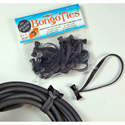 BongoTies Handy Elastic Tie-Wraps 10 Pack Black