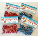 BongoTies Handy Elastic Tie-Wraps 10 Pack Red