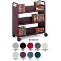Bretford Mobile Book and Utility Truck with 6 Slant Shelves- Aluminum