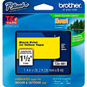 Brother TZe661 1.4 in x 26.2 ft ( 36 mm x 8 m) Black on Yellow