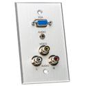 Board Room 1G Clear Anodized with 1-VGA Female Barrel/3 RCA Barrels/1 Mini Jack 3.5mm Solder -Bstock Cosmetic Scratches
