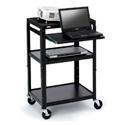 Bretford CA2642NS AV Notebook Cabinet Cart - No Electrical - 4 Inch Casters