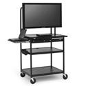 Bretford FP60MUL-E5BK Flat Panel Cart with Laptop Shelf
