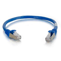 Cables To Go 00980 6 Inch Cat6 Snagless STP Cable - Blue