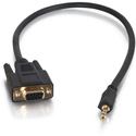 Cables To Go 02445 1.5 Foot DB9 Female to 3.5 Adapter for RS-232 Serial Control