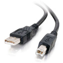 C2G 28102 USB 2.0 A to B Cable - Black - 6.6 Foot