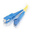 C2G 37110 LC-SC 9/125 OS2 Simplex Singlemode PVC Fiber Optic Cable - 3 Meter - Yellow