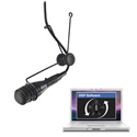 CAD 2600VP DSP Variable Polar Pattern Hanging Microphone DSP Compatible - Black