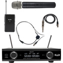 CAD Audio GXLD2HBAH Digital Wireless Combo Handheld and Bodypack Microphone System AH Frequency Band (902.9 - 915.5 MHz)