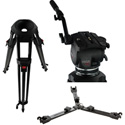 Cartoni F127 FocusHD 2 Stage Aluminum 3 Tube Ultra Light Tripod with ML Spreader / Pan Bar & Soft Case