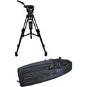 Cartoni KF22-2HC FOCUS 22 Head 2 Stage Aluminum 100mm HD Tripod ML Spreader Feet Pan Bar & Soft Case