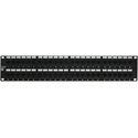 12-Port Category 6 Patch Panel with Rear 110 Termination 1RU
