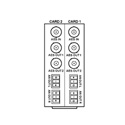 Cobalt RM20-9262-B/S 20-Slot openGear Frame Rear I/O Module (Split Supports 2 Cards) 1 AES Input 2 AES Outputs 2 Analog