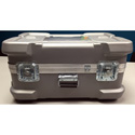 CDC 919 Super-Shipper Case with Built-In Wheels - 26in L x 16in W x 12in D - Silver - No Foam
