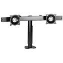 Chief KTC220B Dual Monitor Horizontal Desk Clamp Mount - Black