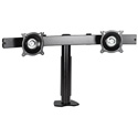 Chief KTC220S Dual Monitor Horizontal Desk Clamp Mount - Silver