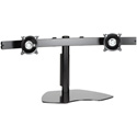 Chief KTP225B Widescreen Dual Monitor Horizontal Table Stand - Black