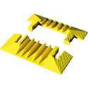 Checkers YJ5EB-125-Y Yellow Jacket Heavy Duty Cable Protector 5 Channel End Cap - Yellow - Pair