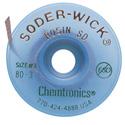 Chemtronics 80-3-5 Soder-Wick Rosin - 5 Foot (15.2 m)/bobbin