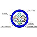 Cleerline 2C6250125OM3R 2 Strand 50/125 SSF & 2 CAT6 Indoor Fiber Cable 1000 foot