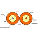 Cleerline D50125MOM2R 50/125 Indoor/Outdoor SSF-S Fiber Cable 1000 foot