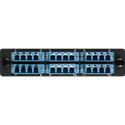 Camplex CMX-MP24LCSP 6-Port LC QUAD Singlemode Fiber Adapter Plate Module with Ceramic Connectors-Blue