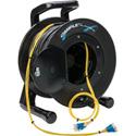 Camplex 4-Channel LC Singlemode Fiber Optic Tactical Snake on Reel 250 Ft