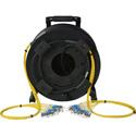 Camplex 12-Channel ST Single Mode Fiber Optic Tactical Snake on Reel 250 Ft