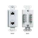 Channel Plus WPW-PDC (1) CAT5e RJ45 and (2) Phone and (2) Coax Knockouts - White
