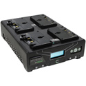 Core SWX FLEET-QM4AI Four Position 3-Stud Gold Mount Fast Simultaneous Li-Ion Charger w/ Voltbridge Bluetooth Technology