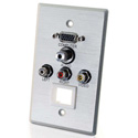 1G HD15 VGA 3.5mm Composite Video Stereo Audio Keystone Wall Plate
