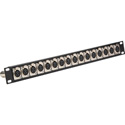 Connectronics CTX-16XFXM XLR Feedthrough 1RU Patch Panel 16-F Front / 16-M Rear