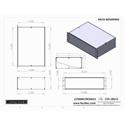 Connectronics CTX-3RU12 3 Space Rack Mount Alum Box Cabinet 19x12x5.25