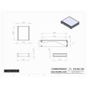 Connectronics CTX-MC-10A  Alum Project Box Cabinet 8.5 X 7 X 1.75
