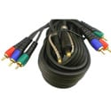 6ft Component Video 3RCA-3RCA Cable With Toslink Fiber Optic Audio