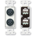 RDL D-XLR2F Dual XLR 3-pin Female Jacks on Decora Wall Plate - Screw type