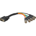 HD 15 Pin to 5 BNC Breakout Cable 6 Inch