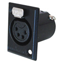 Switchcraft XLR 4-Pin Female XLR Panel/Chassis Mount Connector - Black